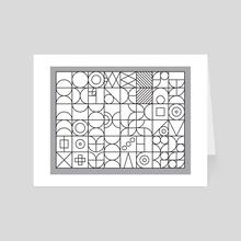 Black outlines geometric poster - Art Card by Revolution Australia