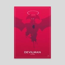 Devilam Crybaby Fan Art - Canvas by Marco Zavan