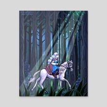 Forest Wanders - Acrylic by Caroline Flindell