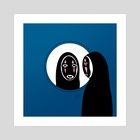 No Face x Ash - Art Print by Nicartdaily