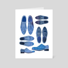 Blue Brogue Shoes - Art Card by Nic Squirrell