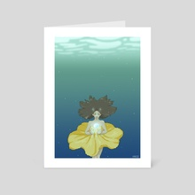 Underwater - Art Card by Paula Moruzzi