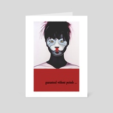 Woman Plug and Play Red - Art Card by Patrick Santoni