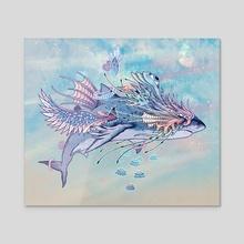 Journeying Spirit (shark) - Acrylic by Mat Miller