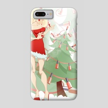Mrs Santa - Phone Case by Polina Trofimova