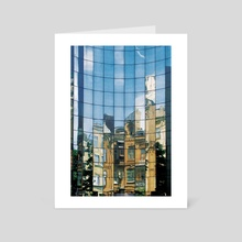City and reflections - Art Card by Dmytro Rybin
