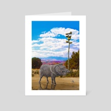 Gila Javelina - Art Card by Russell Thornton