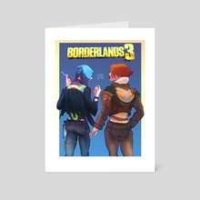 Borderlands 3 Maya and Lilith - Art Card by melissa packer
