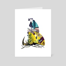 Beetle-Rider no. 1 - Art Card by Meg Hunt