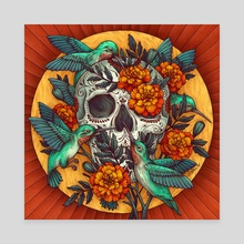 Day of the Dead 1 - Canvas by Kate O'Hara