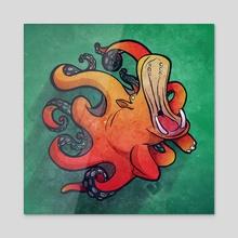 Octopotamus - Acrylic by Beth  Hammer