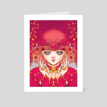 RED BLOOM - Art Card by ena beleno