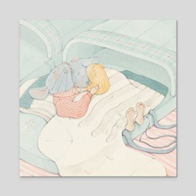 Cozy Slippers - Acrylic by Martina Brancato