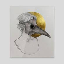 Plague - Acrylic by Ghadir Ibrahim
