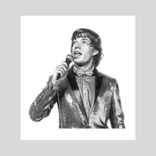 Mick Jagger Print by Zach Meyer
