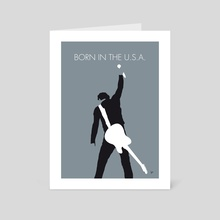 No017 MY Bruce Springsteen Minimal Music poster - Art Card by Chungkong
