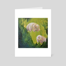 Tardigrade Grotto - Art Card by Emily Valenza
