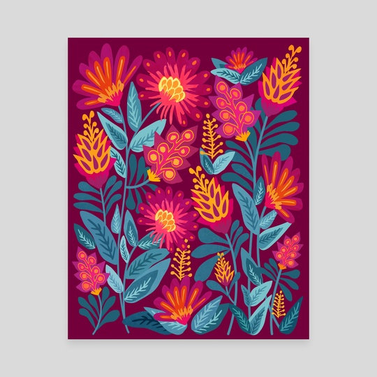 Bold Modern Floral by Modern Tropical