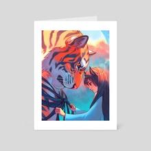 Tangled Tiger - Art Card by NANA Nakano