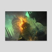 Blast Zone - Canvas by Chris Ostrowski