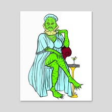 Swamp Lady in Blue - Acrylic by Allison Litera