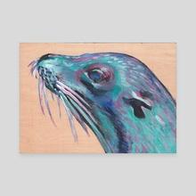 Sea Lion - Canvas by Deborah Rose Guterbock