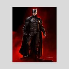 The Batman Red White eyes - Canvas by Tiago Ribeiro