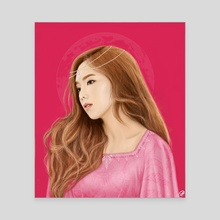 Taeyeon - Pink Princess painting - Canvas by Xanthe P Russell