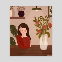 The florist - Canvas by Dian Pu