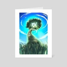 Tree - Art Card by Juan Carlos Guzmán
