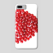 Heart of red berries - Phone Case by Dmytro Rybin
