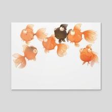 Goldfish - Acrylic by Chhuy-ing IA