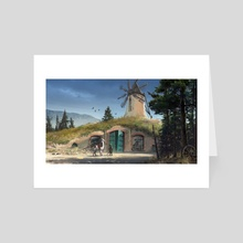 The Old Mill - Art Card by Guido Kuip