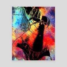 Galaxy woman   - Canvas by alaa lotfy