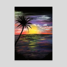 Sunset Sea - Canvas by adam santana