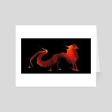 Lava fox - Art Card by Alex Rikkert