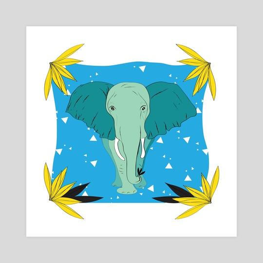 Safari Kid- Elephant Blue  by Justine Swindell