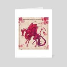Dragon of cinnabar - Art Card by Semolina