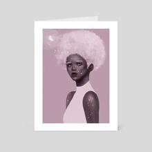 Half-moon light - Art Card by Cathy Tran