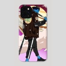 Walking on Saturn - Phone Case by I P LOBATO