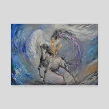 Angel of good news. Valkyrie. - Canvas by Elena Reutova