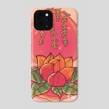Warm Floral Lotus  - Phone Case by Kassie Arts