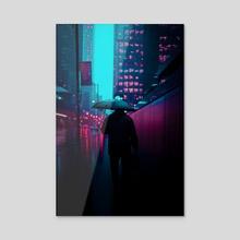 "Toronto 2059 ""Rain or Shine"" - Acrylic by Jahmal Nugent"