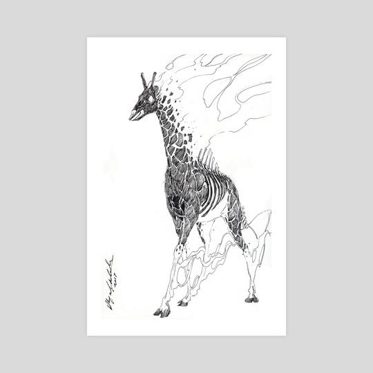 Burning Giraffe by Abigail Harding