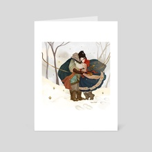 Snow Kiss - Art Card by Karla Rodríguez