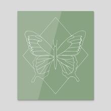 Butterfly / design 25 - Acrylic by Emii Emilova