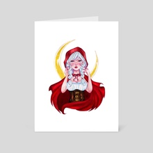 Little red riding Hood. - Art Card by Anandaleyda