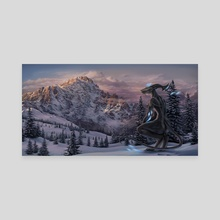 Wintry - Canvas by Evan Bell