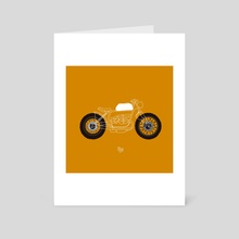 Minimal bike - Art Card by LeftHandedGraphic