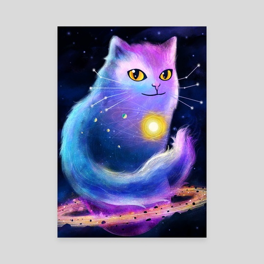 Cosmic Cat by Carly A-F
